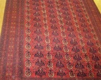 "Oriental hand woven all wool rug Afghanistan, 6'9"" x 10', $800.00"