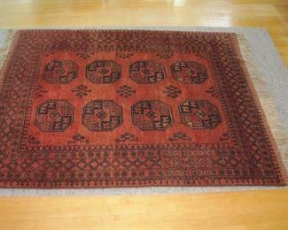 "$275.00, Afghan Chakesh hand woven all wool,  5'2"" x 6'3"""