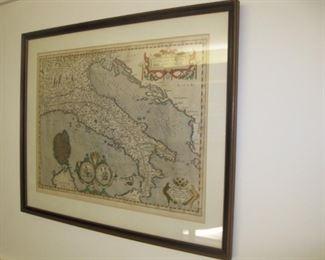 """$300.00, Italiae Veteris Specimen, after Abraham Ortelius, good condition 14.25"""" x 19.25"""""""