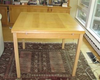 """$350.00, Ansager, Mobler Denmark Table with extending leaves, 35 x 36"""" with two  16"""" leaves, vg condition"""