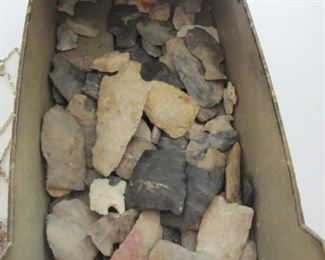 Large collection of  Native American arrow heads, these will be bagged as photoed