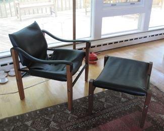 Arkana Safari Chair and ottoman in vg condition