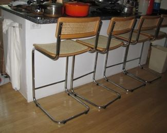 MCM MARCEL BREUER Chrome bar chairs VG condition