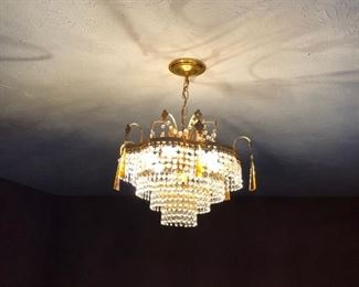 Living Room Chandelier.  We will uninstall when purchased.