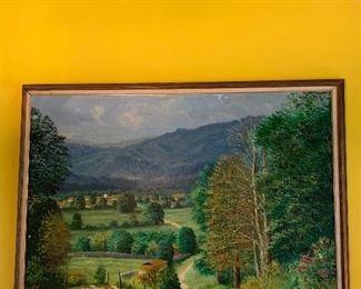"""Large Original Oil by T Rodriquez """"80"""""""