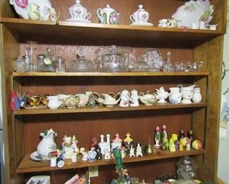 Lots of Porcelain & glass collectibles