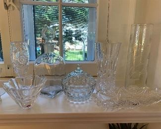 Assorted crystal, Cut Glass.  Orrefors bowl available online (see  next picture)