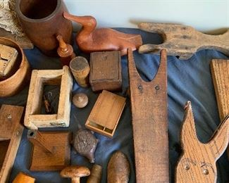 Carved items; boot jacks