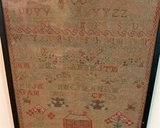 British Sampler -Isabella Mortimer, 1849.