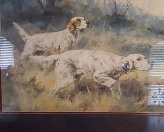 Hunting Dogs print by Rosseau