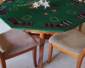 Round table w/poker table top