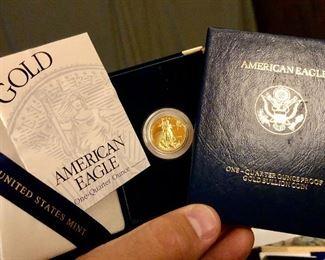 US Mint 1/4 oz Gold bullion American Eagle coin