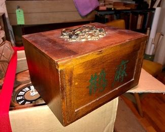 Antique Mahjong game set
