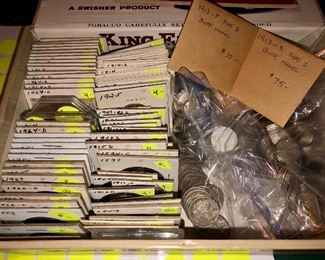 Great selection of collectible coins!  Lots of silver, nickels, pennies, and more!