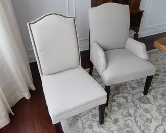 6 Side chairs/2 arm chairs