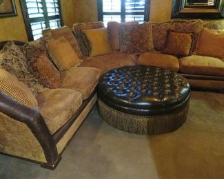 Sectional sofa with pillows