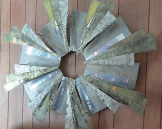 Brutalist wall sculpture (unsigned)