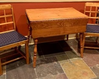 Cherry drop leaf table  $75 Side chairs $20 ea $115 for set