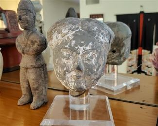 Carved stone bust owner was told upon purchase Ming Dynasty