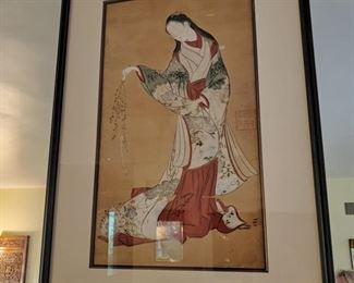 Japanese painting of a female