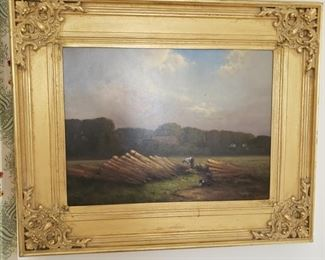 "Andre Balyon oil on canvas, signed and date lower right '94, approx. 34"" x 28"" with frame"