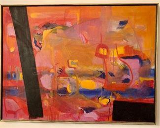 "$800 Original art by E. Ebersole. 31""H x 41""W"