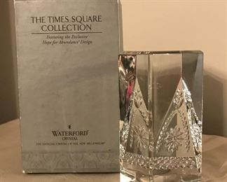 Waterford Times Square Hope for Abundance Prism $25