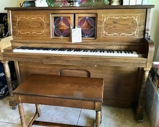 Cabaret Player Piano.  Fully Functional.  Comes with 108 Music Rolls, and Sheet Music.  Plays beautifully!
