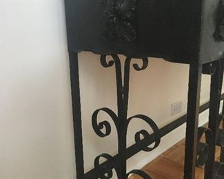 Wrought iron console detail