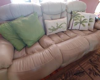 Leather Couch with Recliners (Not great condition but comfy)