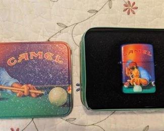 Old Joe Zippo playing pool in tin