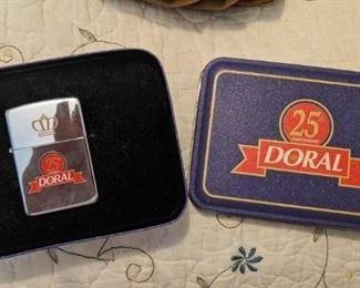 Doral Zippo lighter in tin