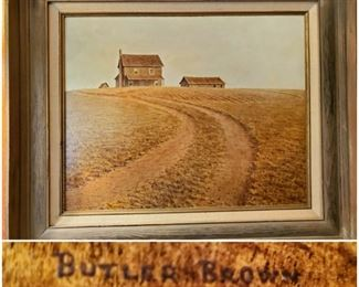 Butler Brown (Hawkinsville, GA artist) original oil on canvass. 1972. Pre-presidency of Jimmy Carter