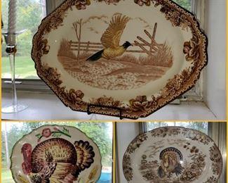 Turkey & pheasant platters
