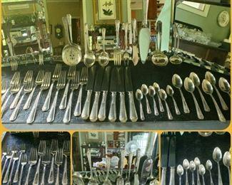 Sterling silver flatware set. Louis XIV. Towle. 45 pieces.