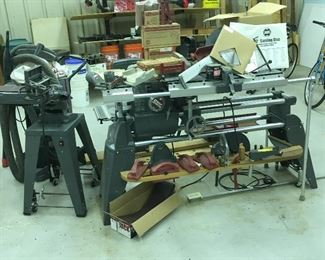 Shop Smith Mark V Whole set up with tons of attachments, manuals, accessories & support items! All one money & works perfectly with very low hours of use... cliens health naturally deteriorated shortly After purchase and it saw very little use! Going to be great get for someone!