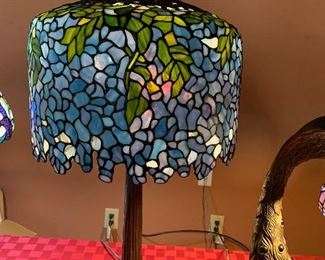 $625~ CONTEMPORARY TIFFANY STYLE WISTERIA TABLE LAMP