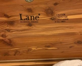 $190~ VINTAGE LANE CEDAR LINED CHEST