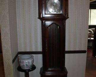 GRANDFATHER CLOCK, PLANT STAND