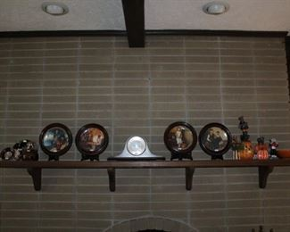 COLLECTOR PLATES, MANTLE CLOCK