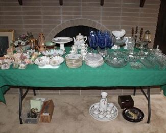 CRYSTAL, TEA SETS, GLASSWARE