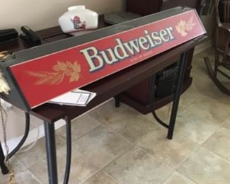 Vintage Budweiser pool light