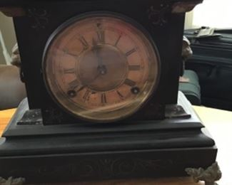 Antique Marble clock Ansonia Clock Company New York.