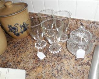 Assorted glassware.