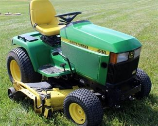 John Deere Liquid Cooled Diesel HD Riding Lawn Tractor Model 455, With 60' Mower Deck, Hours Showing 1378.5
