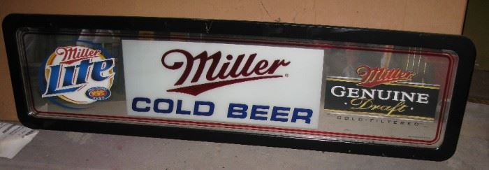 MILLER LONG BACK BAR MIRROR SIGN                                            BUY IT NOW  $ 55.00