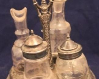 Lot# 2007 - Antique Silver Plated Condiment
