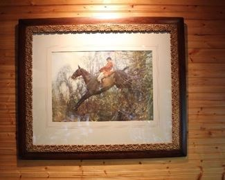 Large Beautifully Framed Fox Hunt Print