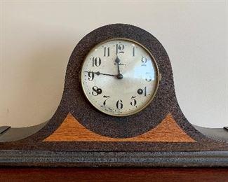 "Item 15:  Waterbury Clock Co.- Pendulum Tambour Shelf Clock - 22.5""l x 5""w x 10""h: $125"