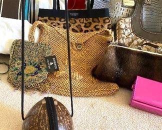 Super fun coconut handbag!